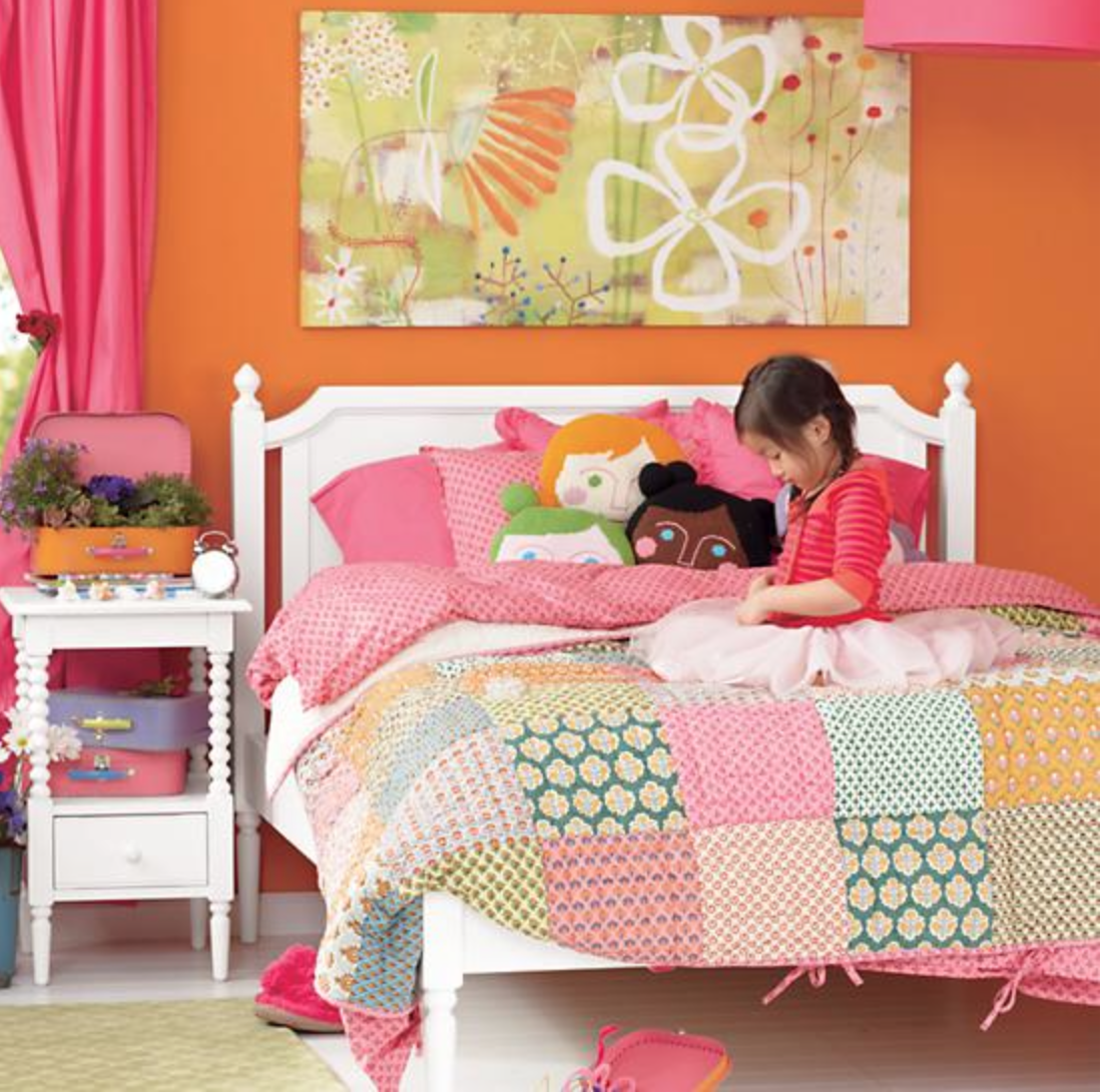 girls room: pink, orange, white | for the home: rooms for babies