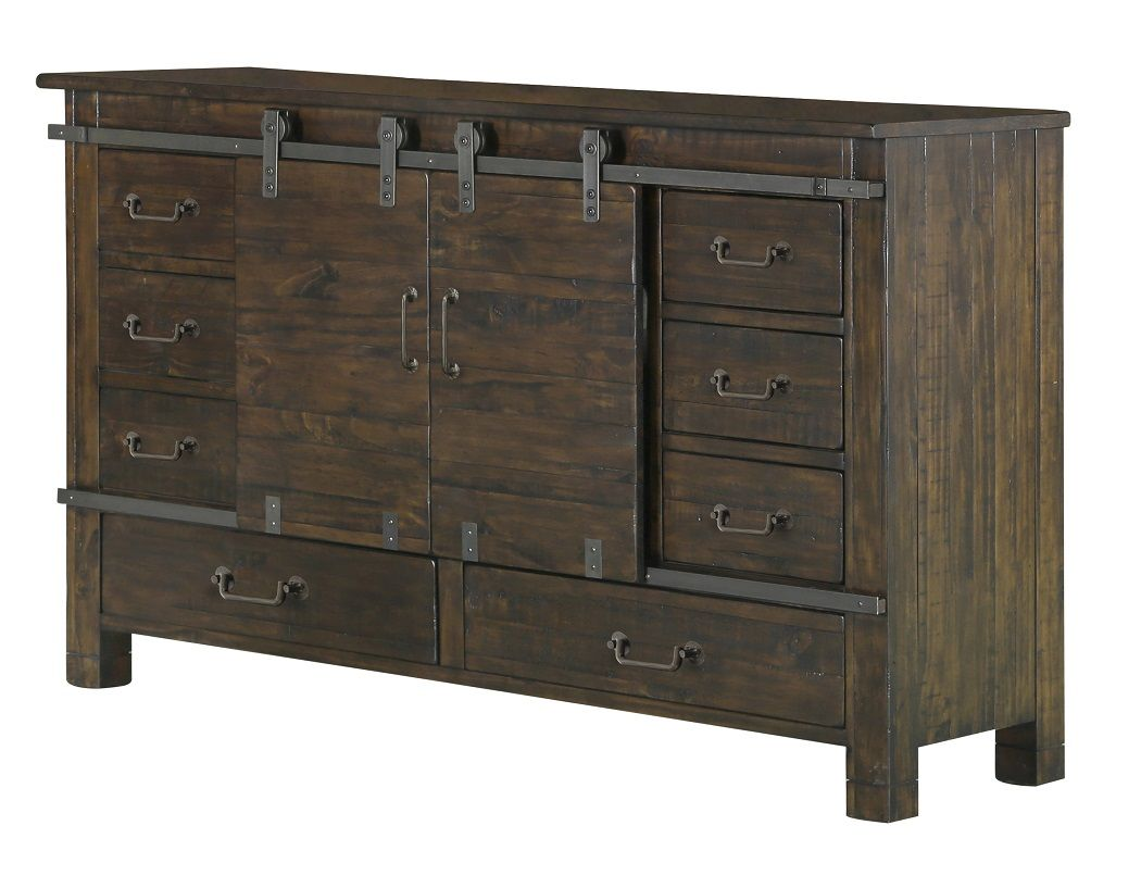 Pine Hill Magnussen Collection B3561 24 Dresser Rustic Dresser Furniture 9 Drawer Dresser Dresser with doors and drawers