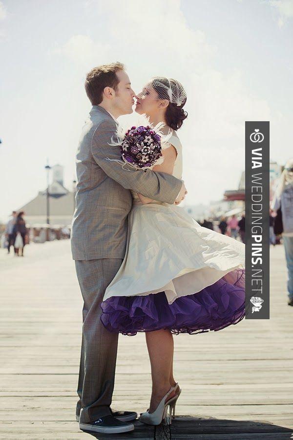 Vintage Nautical Weddings Love The Colorful Purple Petticoat On