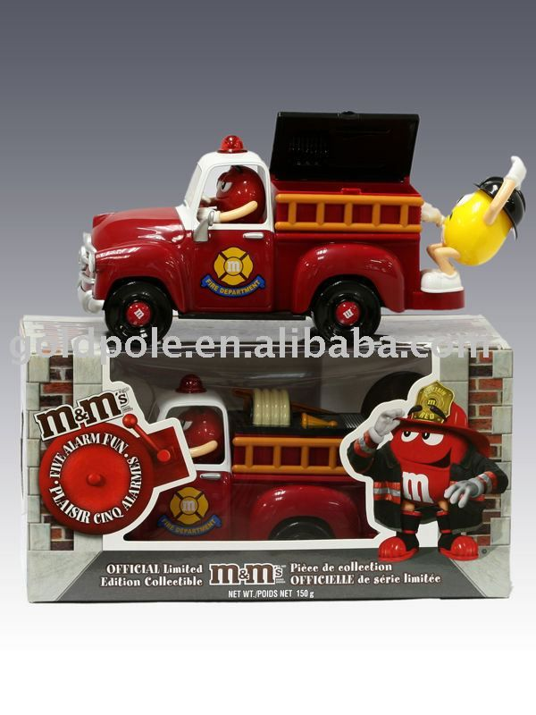 M Candy Coloring Pages | toys M\'s Choc Fire Truck Dispenser ...