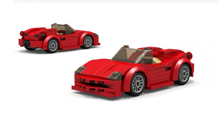 LEGO Ferrari 360 458 spider convertible sports car moc | Automobil ...