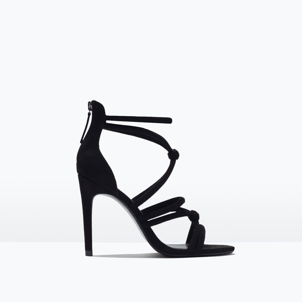 Image 1 Of Knotted High Heel Sandals From Zara Shoes Pinterest
