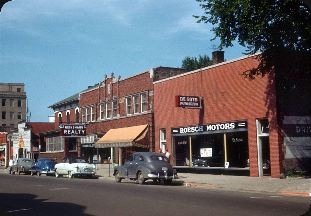 1951 roesch motors plymouth desoto dealership elmhurst illinois elmhurst chicago neighborhoods elmhurst illinois pinterest