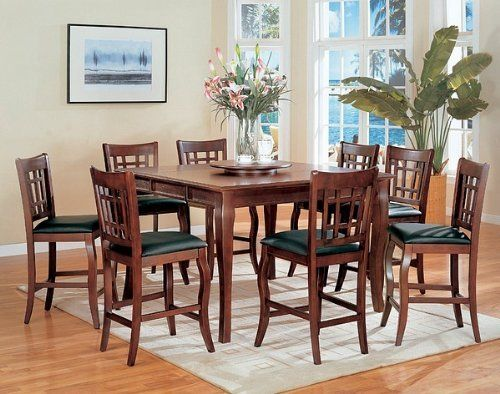 26++ Counter height dining table with lazy susan Top