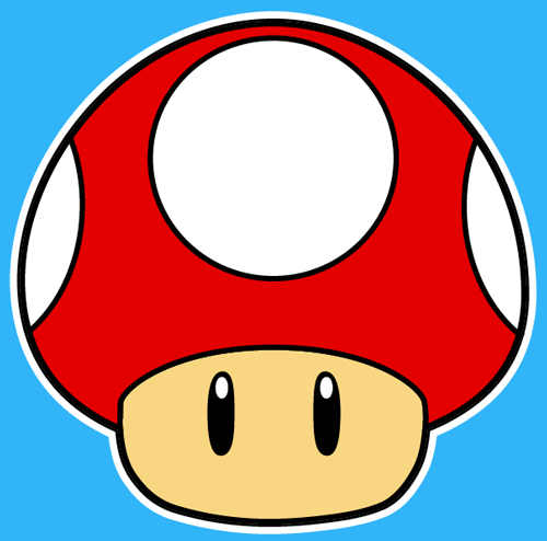Super mario mushroom the west pinterest for Super easy drawings