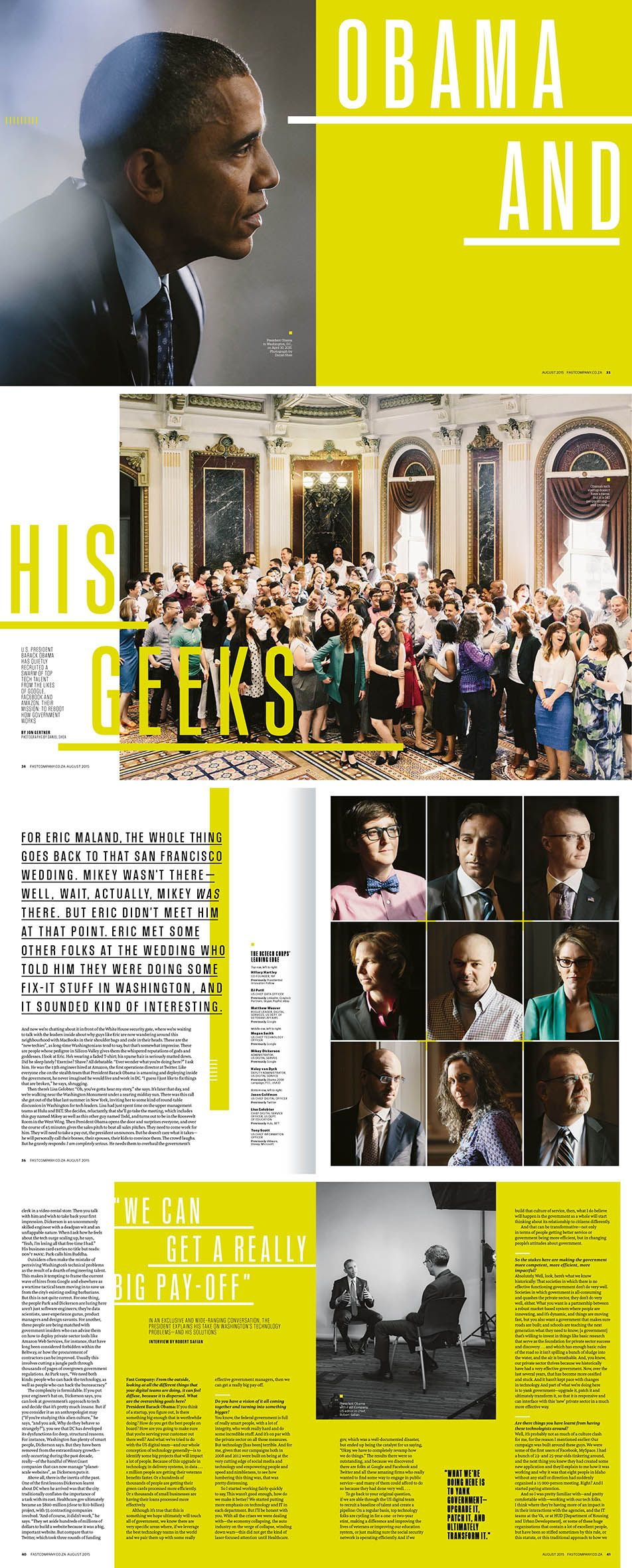 Brilliant layout, very effective. I love the acid green and the dynamic of font…