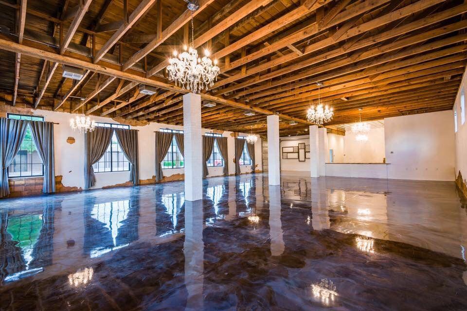Metallic Epoxy Floor For The Soda District Venue In Abilene Texas Solid Impressions Metallic Epoxy Floor Epoxy Floor Abilene