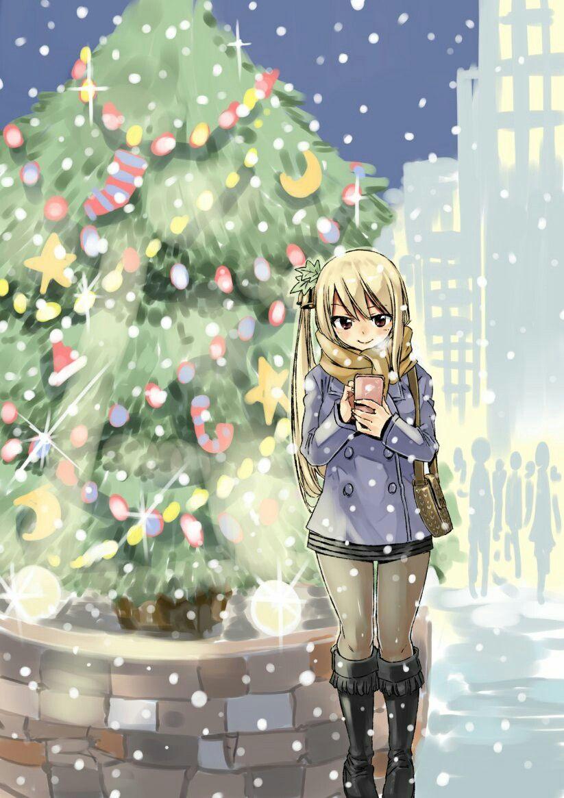 Lucy Heartfilia winter hiro_mashima via twitter Fairy