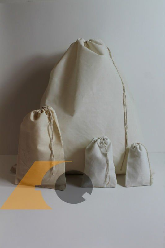 organic cotton drawstring bags, any color draw string, bag bleached or unbleached, colors available