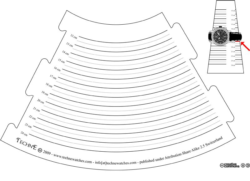 Bracelet sizer cone in centimeter - free pdf file | Free-form