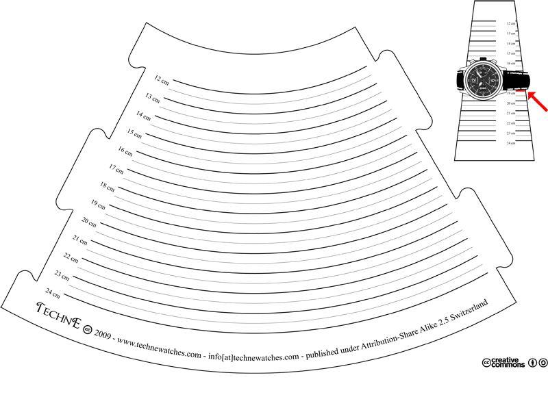 Bracelet Sizer Cone In Centimeter Free Pdf File