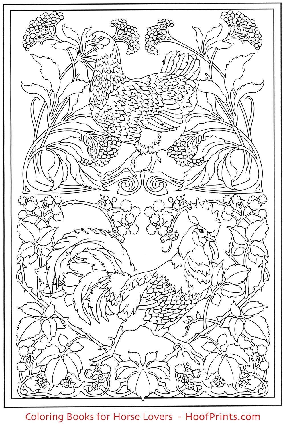 Art Nouveau Animal Designs Coloring Book Www Hoofprints Com Animal Coloring Pages Designs Coloring Books Coloring Pages