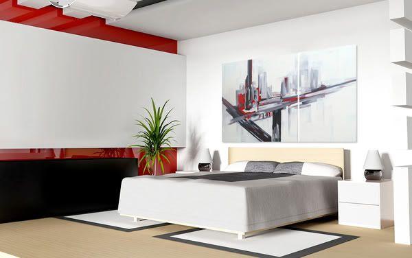 cuadros abstractos rojo negro blanco cuadros modernos al oleo