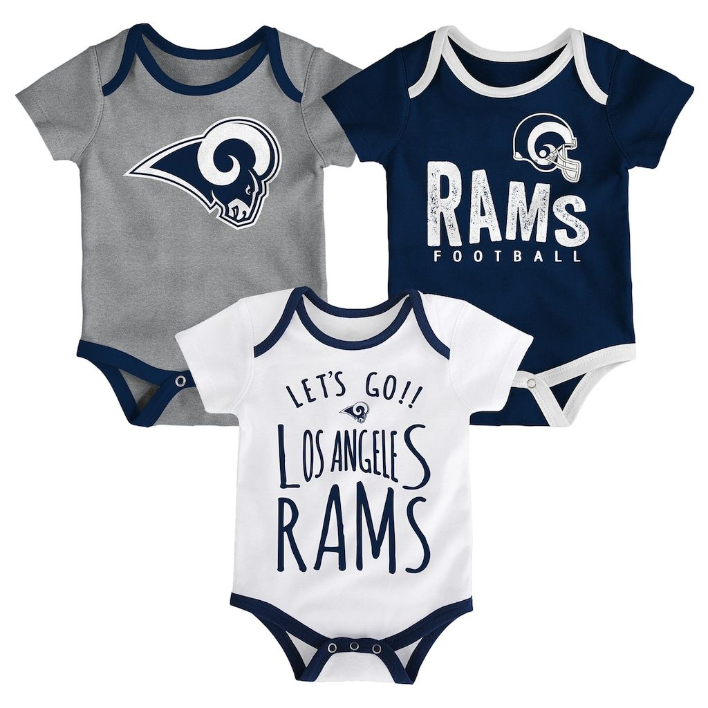 25787609 Baby Los Angeles Rams Little Tailgater Bodysuit Set | Products ...