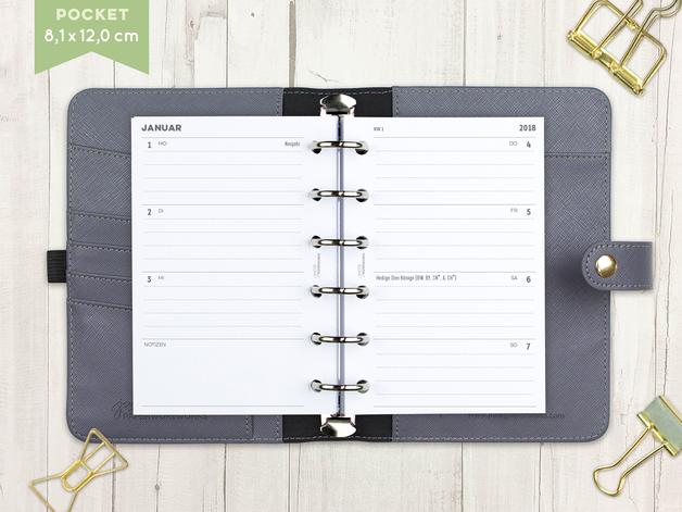 kalender einlagen f r dein ringplaner format. Black Bedroom Furniture Sets. Home Design Ideas