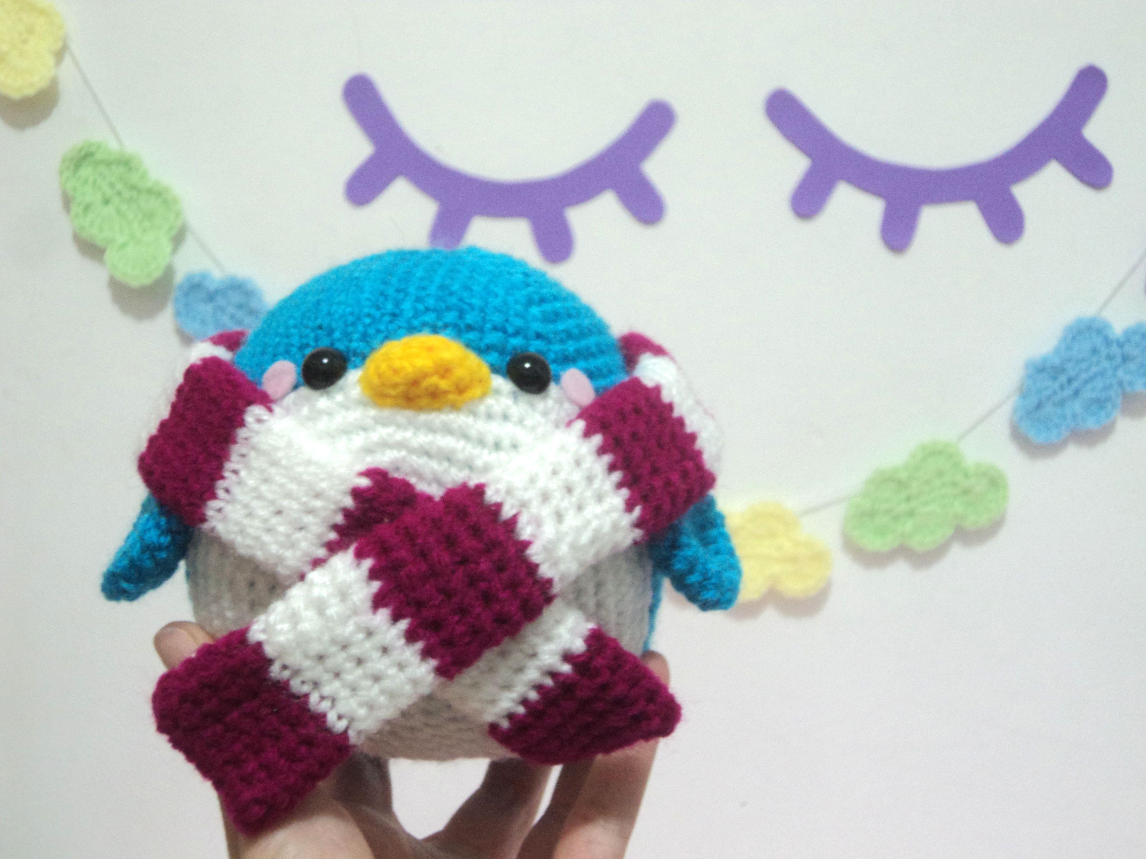 Horgolt Amigurumi Nyuszi : Pinguim bolinha de crochê amigurumi