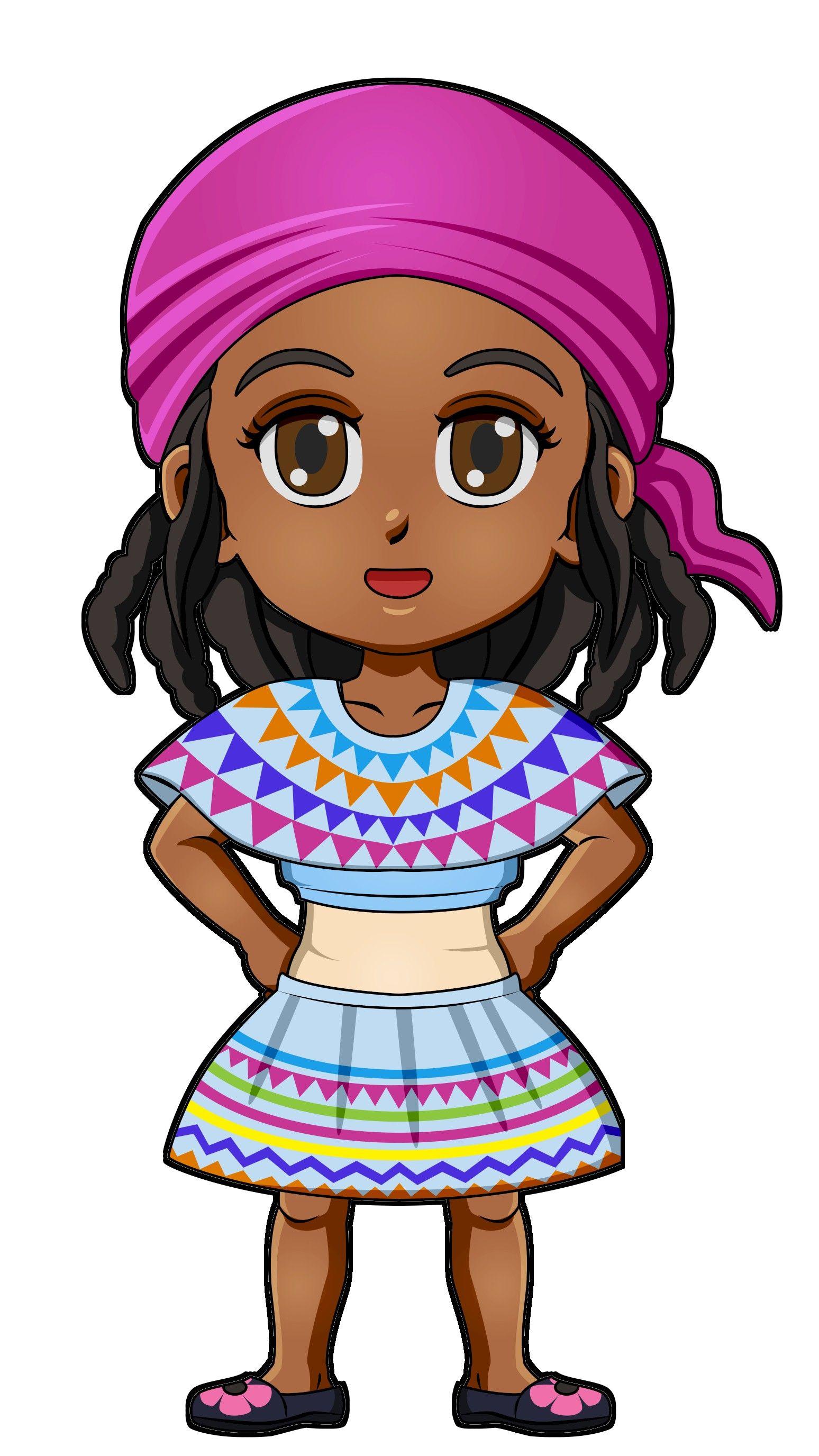 Superhero Twilight Haiti International Paper Doll