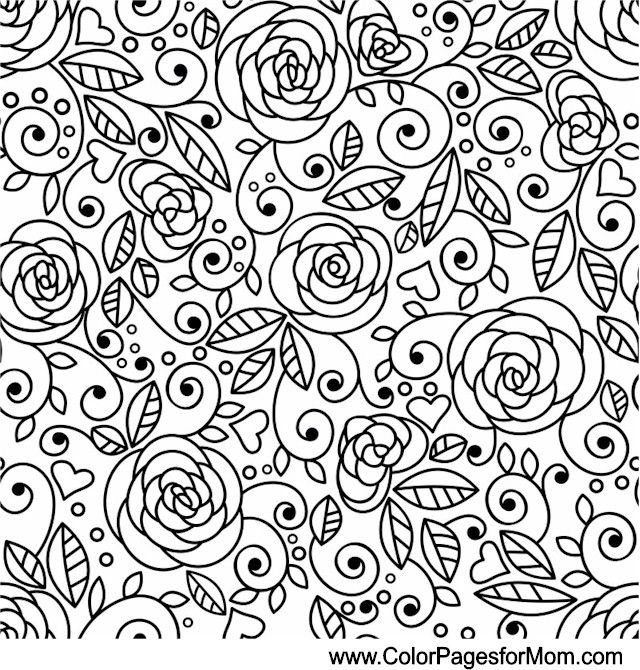 Wedding Coloring Page 31 | mandalas | Pinterest | Pintar diseños ...