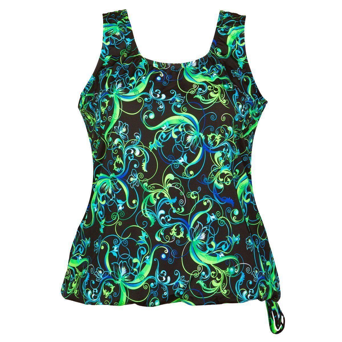 526d062ec6c43 Wear Your Own Bra Plus Size Swimwear Top - Paradise
