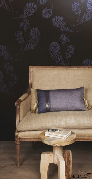 Michele Varian Shop - Plume Wallpaper Black Navy