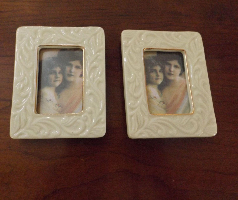 Vintage Pair Lenox Porcelain Picture Frames, Decor, Gift | Picture ...