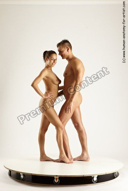 women man poses and nude