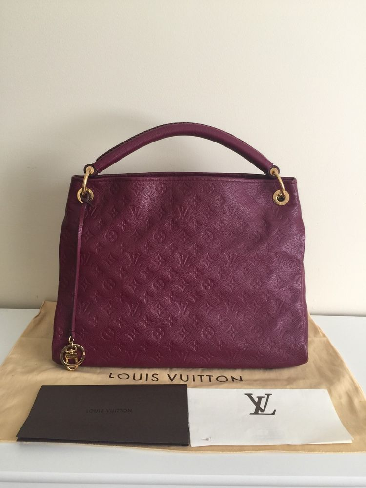 96e95df58a5d Authentic Louis Vuitton Monogram Empreinte Leather Artsy Mm Raisin Purple  Bag  purses  fashion