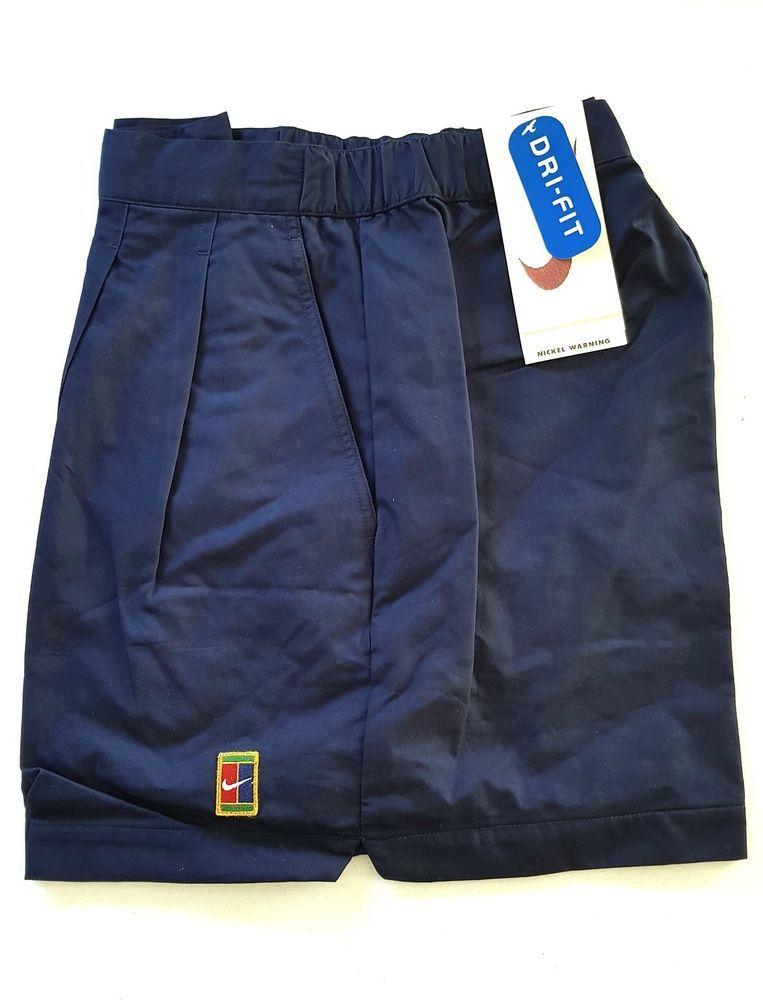 9a4ab450df017b Vintage Nike Supreme Court Tennis Shorts Blue Sampras Agassi Federer Retro  W34  Nike