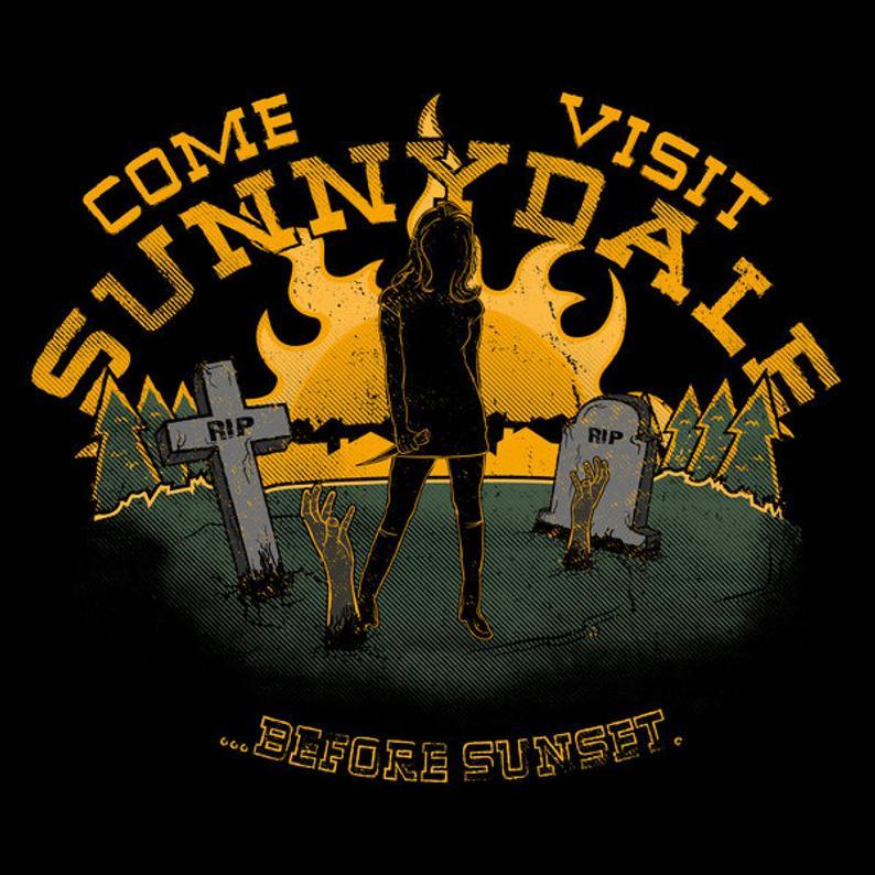 Buffy Paquetes De Peliculas De Carne Slayer Sunnydale Tshirt Vampire Visit Vampire Slayer Buffy The Vampire Slayer Buffy