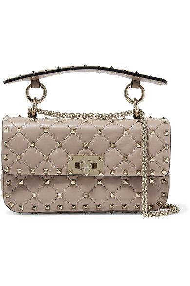 aa2742cbbf2 Need~Valentino | Valentino Garavani The Rockstud Spike small quilted leather  shoulder bag | NET-A-PORTER.COM