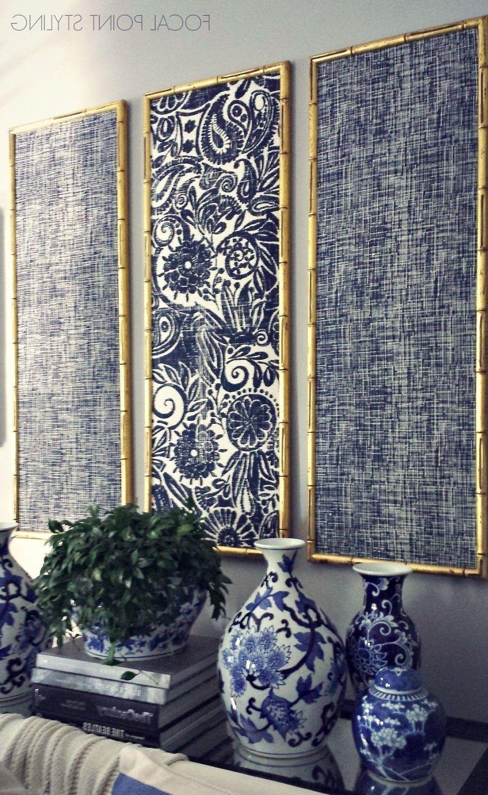 Explore Gallery Of Diy Fabric Canvas Wall Art 15 Of 15 Wall Paneling Diy Fabric Wall Decor Tall Wall Decor