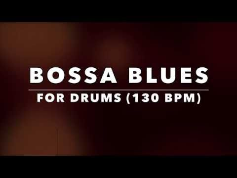 Bossa Nova style Blues Backing Track for Drummers (No Drums