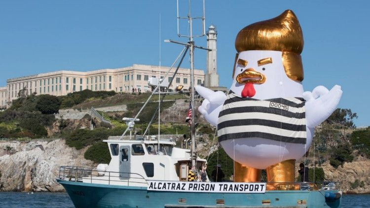 Inflatable 'Trump Chicken' dressed like a prisoner to sail off coast of San Francisco — The Hill
