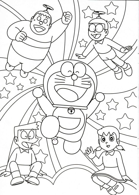Printable Cartoon Doraemon Coloring Pages At Forkids Picture ImageOnline
