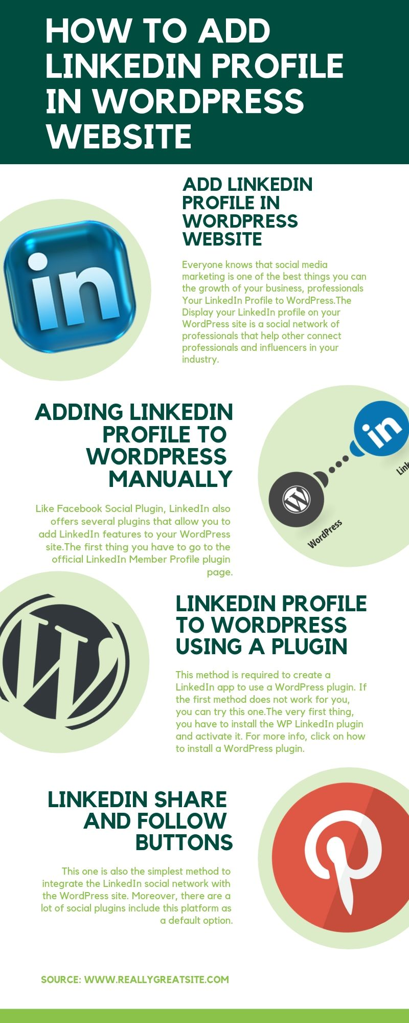 How To Add LinkedIn To WordPress? (With & Without Plugin