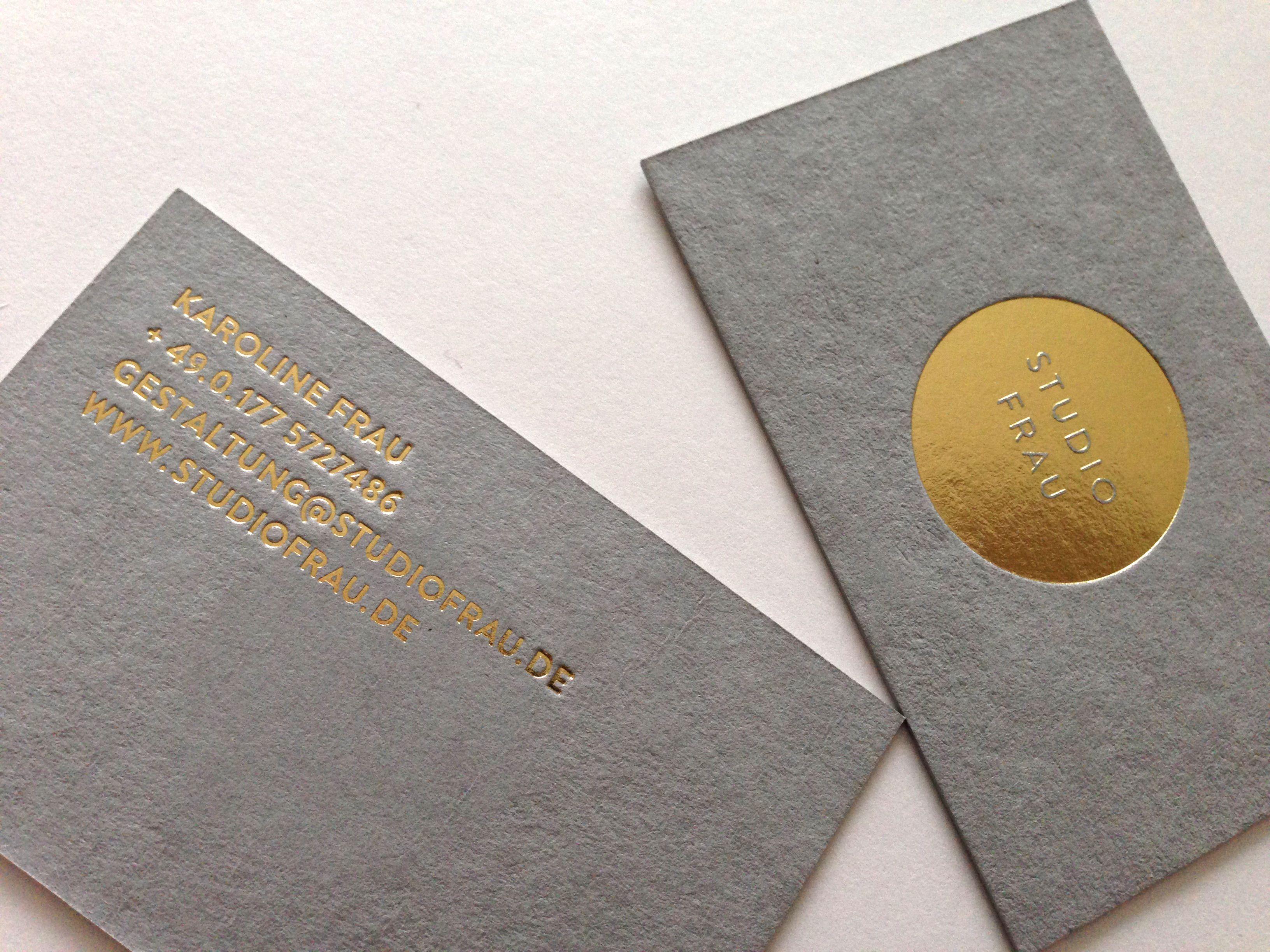new business cards for studio frau | Interior designer ...