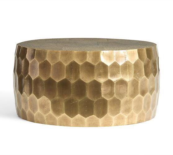 $799, Dimensions Might Be Tight, Vince Metal Clad Coffee Table   Pottery  Barn