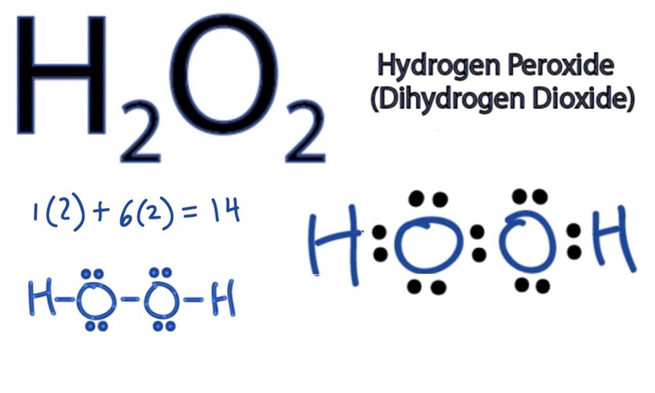 h2o2 lewis structure how to draw the dot structure for h2o2 [ 1280 x 768 Pixel ]