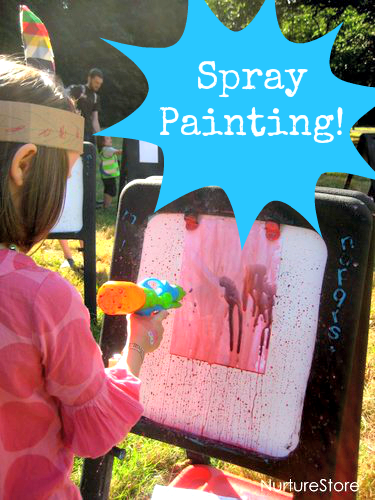 Outdoor Art Projects Spray Painting Spray Painting Painting Activities Art For Kids