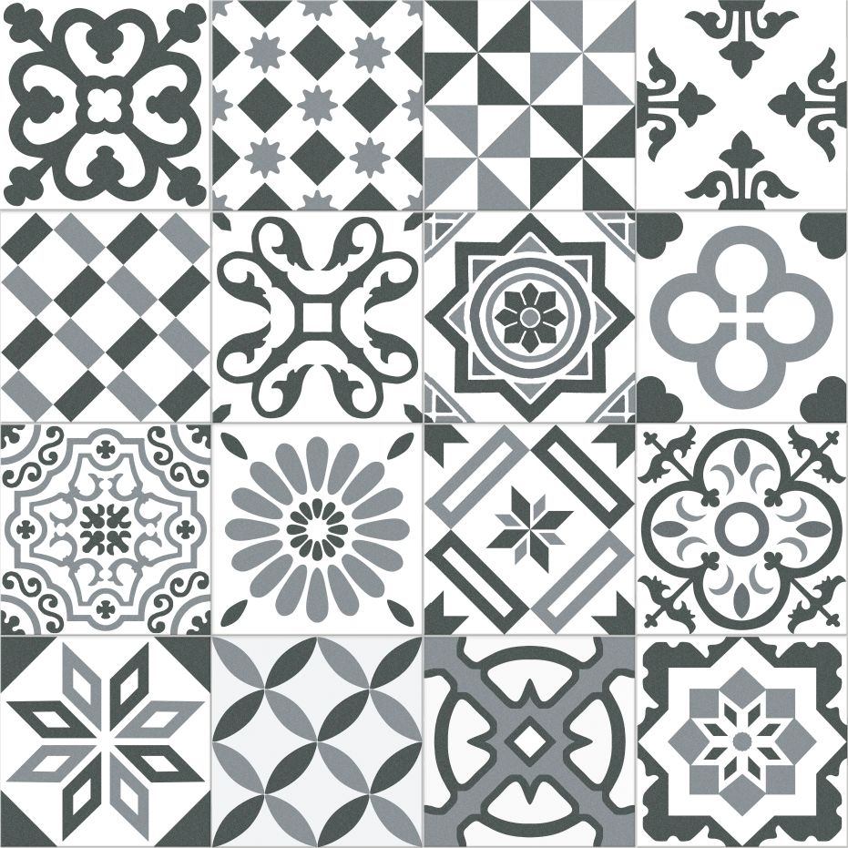 Carrelage imitation ciment gris et blanc mix 20x20 cm ANTIGUA GRIS - 1m² | Texture ♥ | Pinterest ...