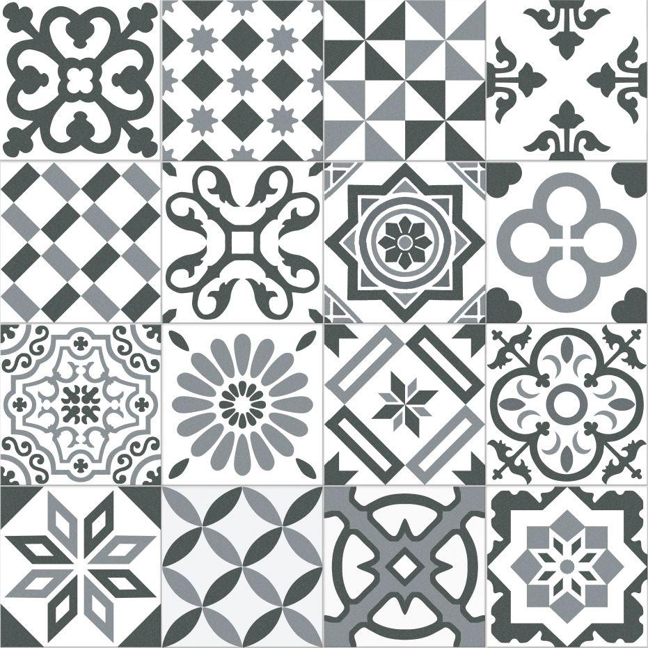 Carrelage Imitation Ciment Gris Et Blanc Mix 20x20 Cm Antigua Gris