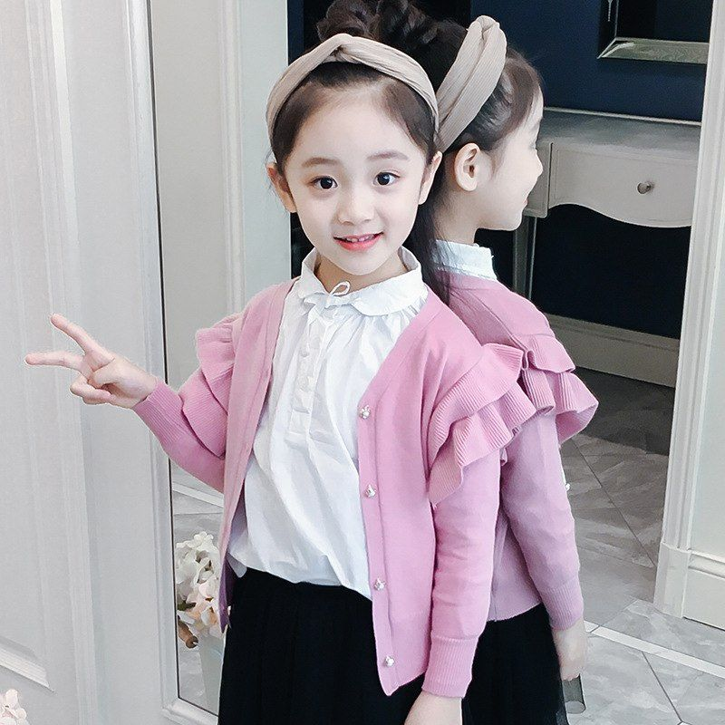 2a5b5eb519d5 Girls Sweater 2018 Baby Knit Sweater Girls Cardigan Long Sleeve Little Girls  Weaters 2-10 Years Toddler Girl Clothing Pull Fille