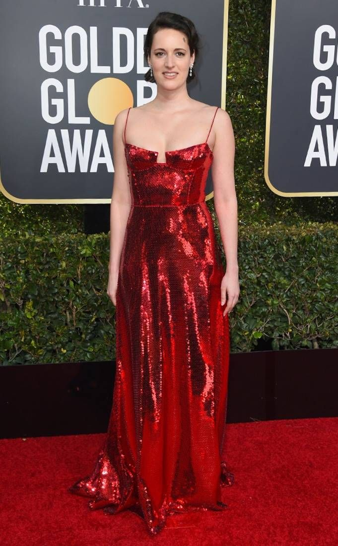 Phoebe WallerBridge from 2019 Golden Globes Red Carpet