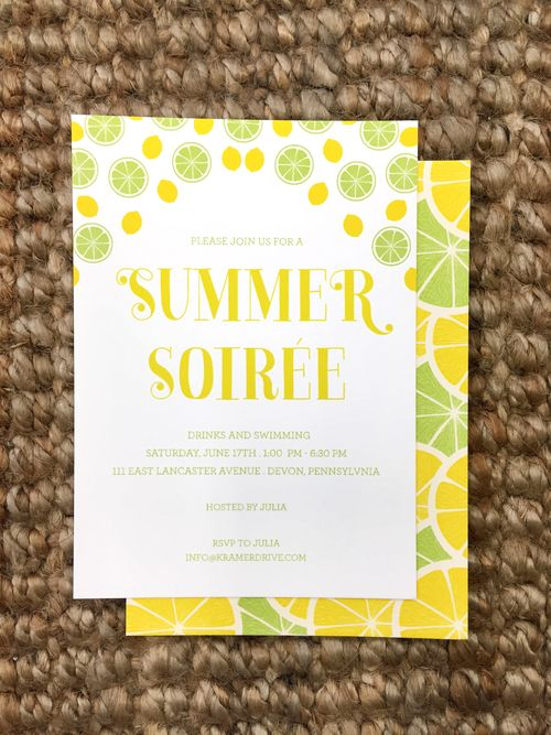 summer soiree invitation from kramer drive customize yours with