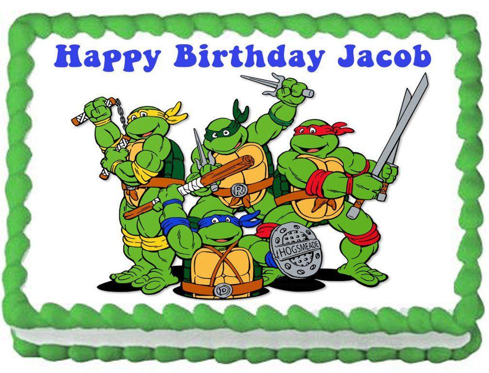 Teenage Mutant Ninja Turtles Edible Image Cake Topper 1 4 Sheet 10 5 X 8 Turtle Images Ninja Turtle Mask Ninja Turtle Birthday