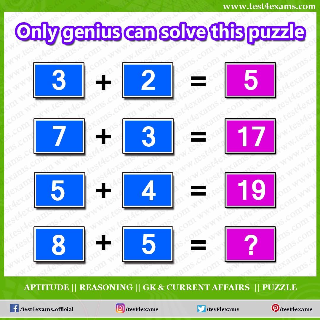 Only Genius Can Solve This Puzzle 3 2 5 7 3 17 5 4 19 8 5 Get More Brain Teaser Puzzle Number Puzzle Brain Teasers Riddles Brain Teasers Puzzle Solving