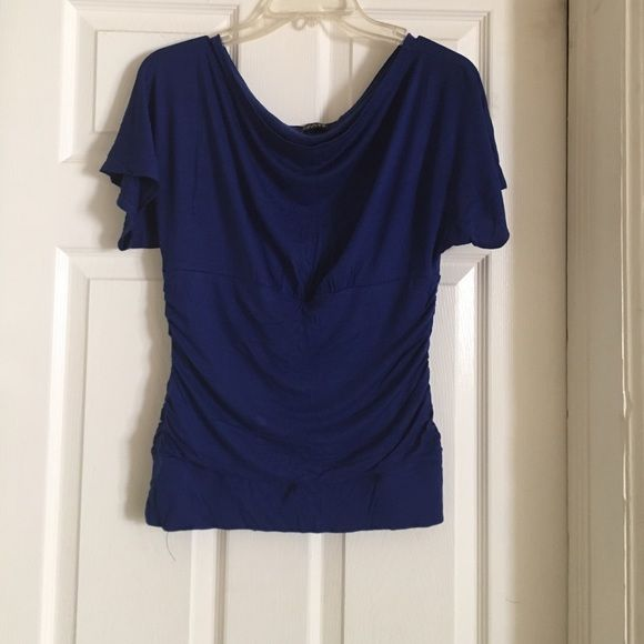 Royal Blue Off-the-Shoulder Top Royal Blue Off-the-Shoulder Top / in fair condition / tags missing Tops