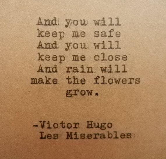 VICTOR HUGO Les MISERABLES Quote Hand Typed on by PoetryBoutique, $10.00