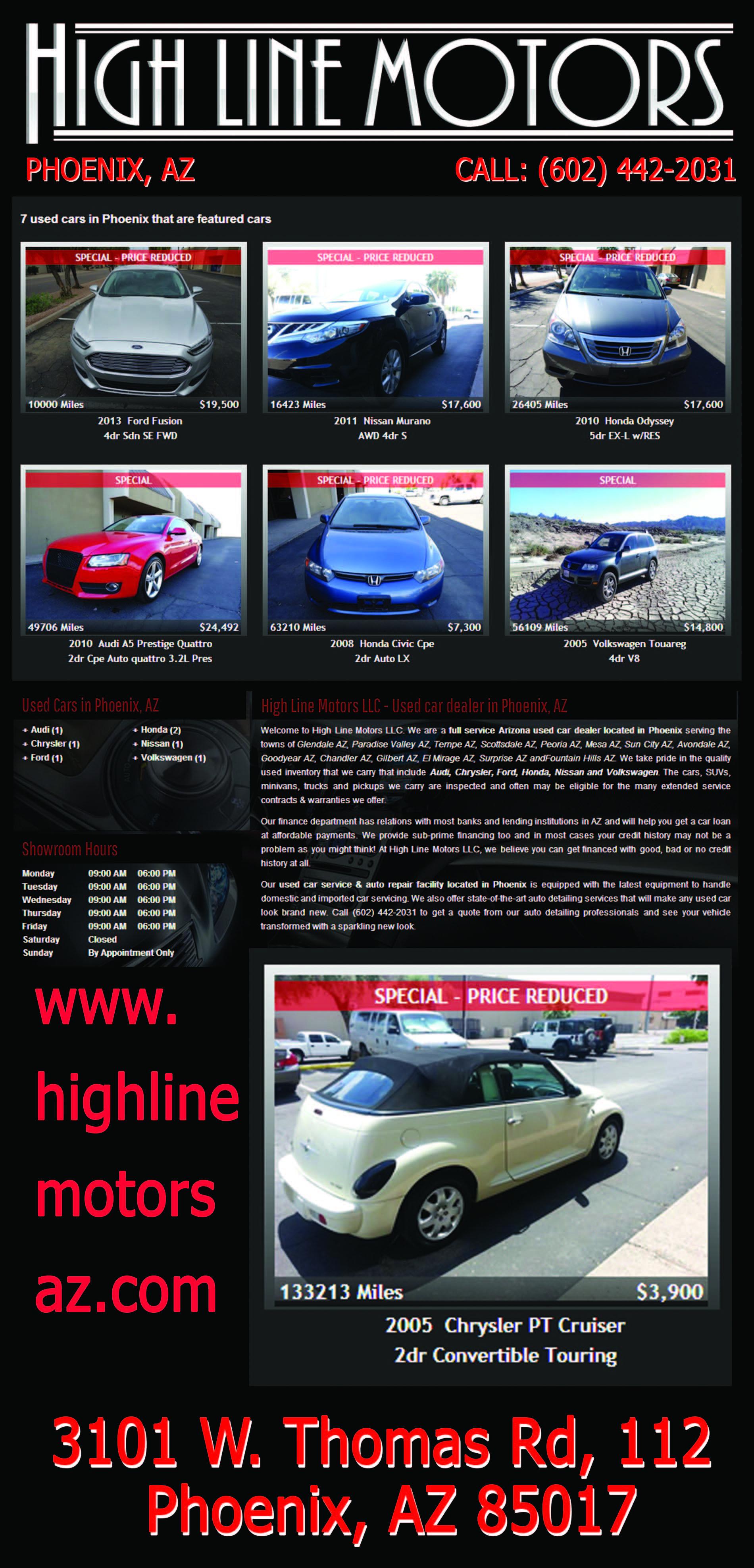 Highline motors az azseasonsmagazine sun city az audi