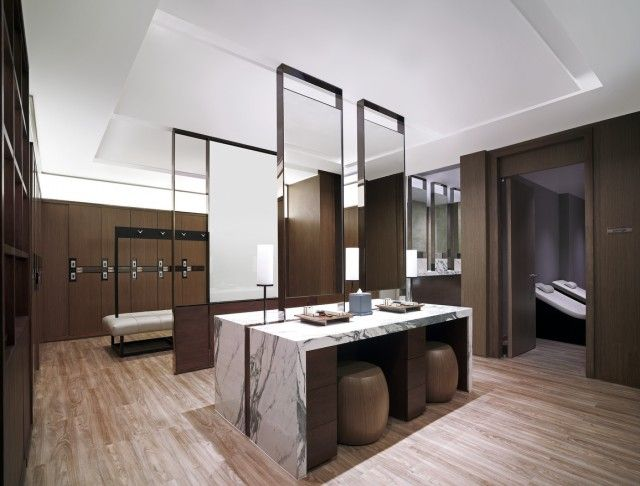 health club locker room design | SHANGRI-LA HOTEL, BANGKOK'S NEW 45 MILLION BAHT HEALTH CLUB